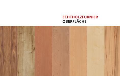 Oberfläche echtholz furniert